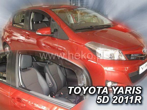 Ветровики TOYOTA Yaris III XP130 (2011-) 5D HEKO