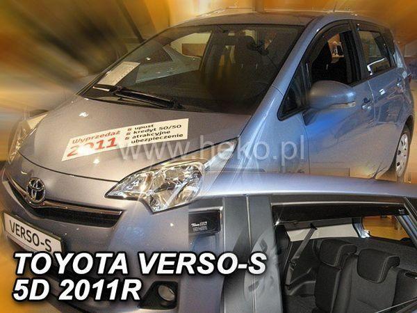Ветровики TOYOTA Verso-S (2012-) 5D HEKO