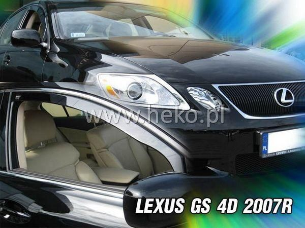 Ветровики LEXUS GS (2007-) 4D HEKO