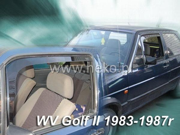 Ветровики VW Golf II (1983-1987) 4D HEKO