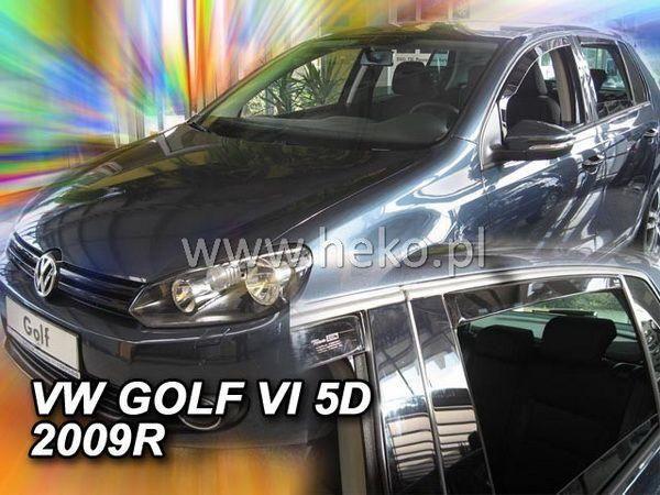 Ветровики VW Golf VI (2008-) 5D HB HEKO