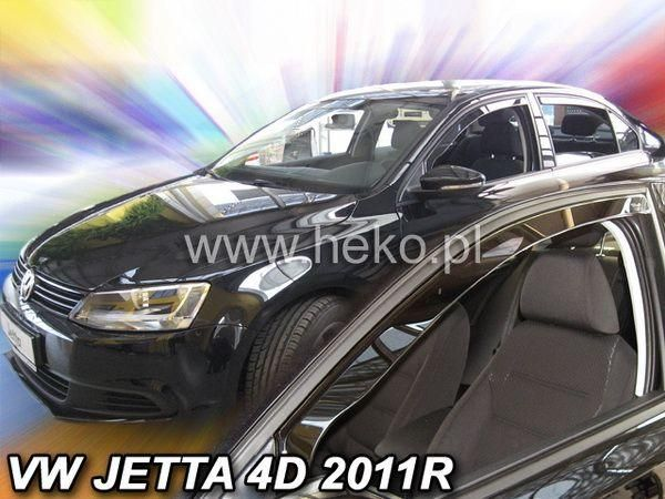 Ветровики VW Jetta A6 (2011-) 4D HEKO