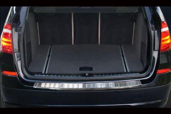 Накладка на задний бампер BMW X3 F25 FL (2014-) рестайлинг - фото #2