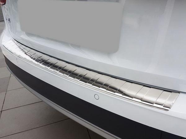 Стальная накладка на задний бампер AUDI A4 B9 Allroad - Avisa 1