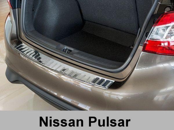 Накладка на задний бампер NISSAN Pulsar C13 (2014-) 5D Польша