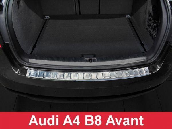 Накладка на зад бампер AUDI A4 B8 (12-15) Avant рестайлинг Польша