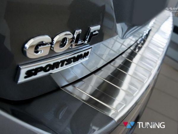 Защитная накладка на задний бампер VW Golf Sportsvan