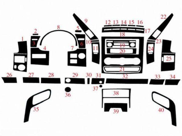 Накладки на торпедо VW Crafter (2006-) большой комплект