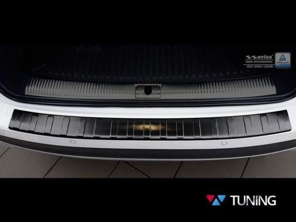 Чёрная накладка на задний бампер AUDI A4 B9 Allroad 2