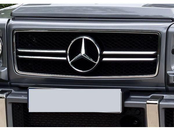 "Решётка радиатора чёрная MERCEDES G W463 (90-14) ""13+Look"""