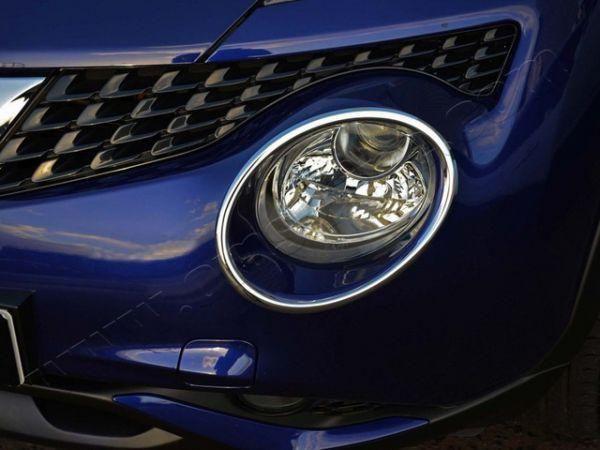 Хром окантовка передних фар NISSAN Juke F15 (2014-) рестайлинг