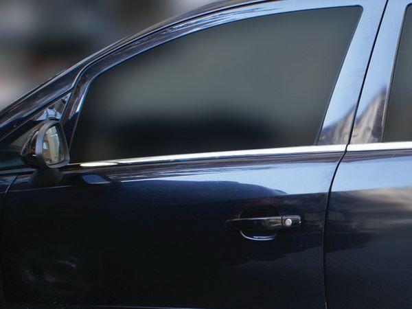 Хром нижние молдинги стёкол OPEL Corsa D 5D