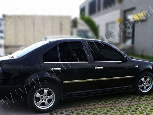 Хром нижние молдинги стёкол VW Bora A4 Sedan