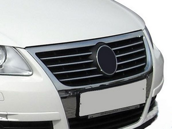 Хром накладки на решётку радиатора VW Passat B6 - фото #1