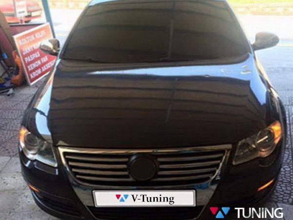 Хром накладки на решётку радиатора VW Passat B6 - фото #2