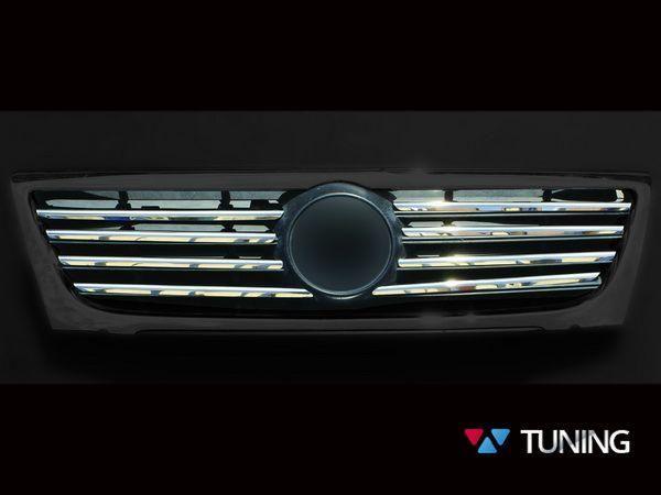 Хром накладки на решётку радиатора VW Passat B6 - фото #3
