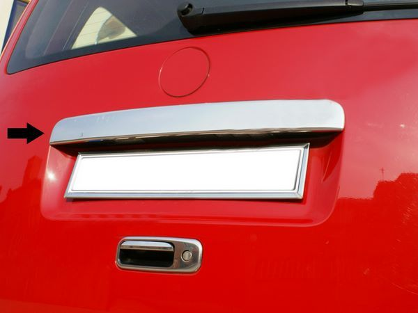 Хром накладка над номером VW Caddy III (04-10) чистая