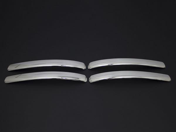 Хром брови на передний бампер VW Caddy III (04-10)