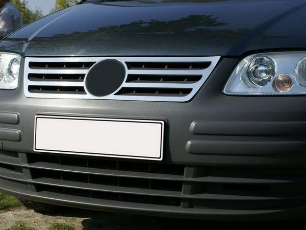 Хром накладка на решётку VW Caddy III (04-10) цельная