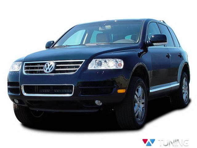 Хром полоски на решётку VW Touareg I (2002-205)
