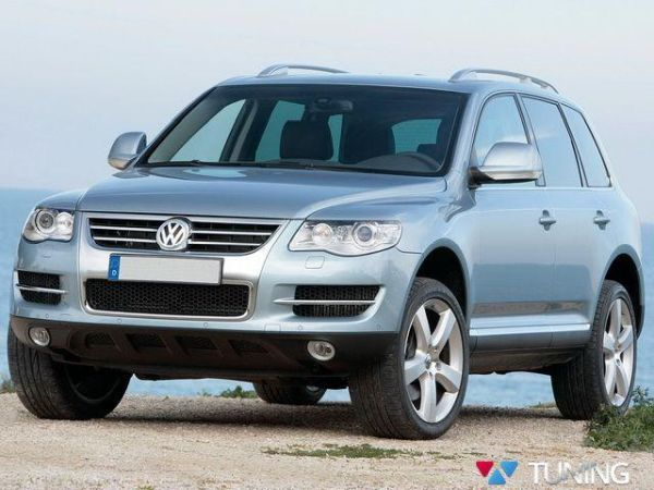 Хром полоски на решётку VW Touareg I (2005-2010) рестайлинг