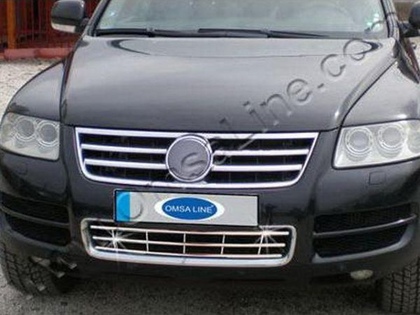 Хром решётка в бампер VW Touareg I (2002-2010)