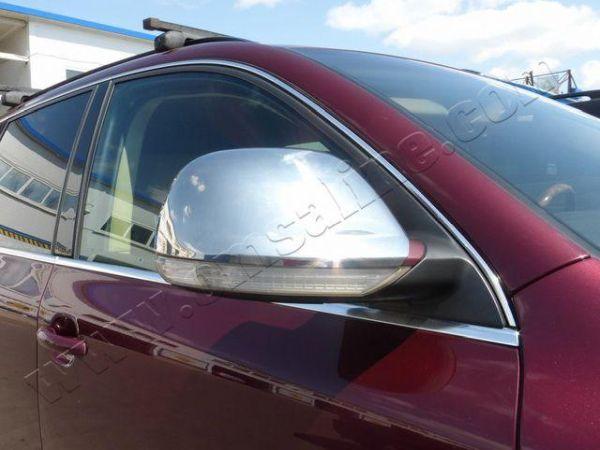 Хром накладки на зеркала VW Touareg I (06-10) рестайлинг