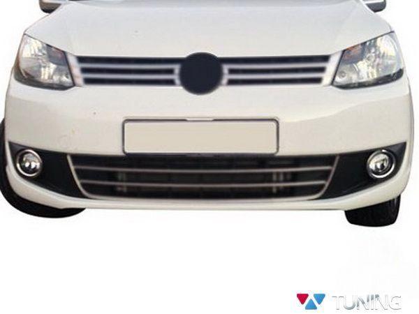 Хром окантовка противотуманок VW Caddy III (10-14)