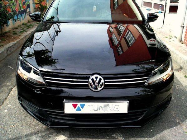 Хром полоски на решётку радиатора VW Jetta A6 (2011-2014) 1