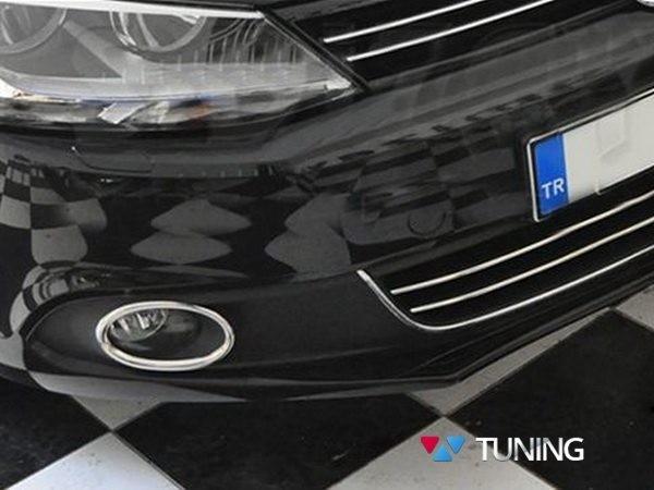 Хром окантовка противотуманок VW Jetta A6 (2011-2014) 1