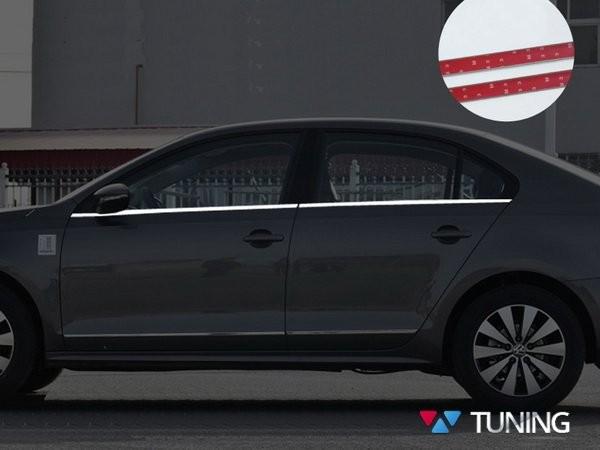 Хром нижние молдинги стёкол VW Jetta A6 (2011-2018) 1