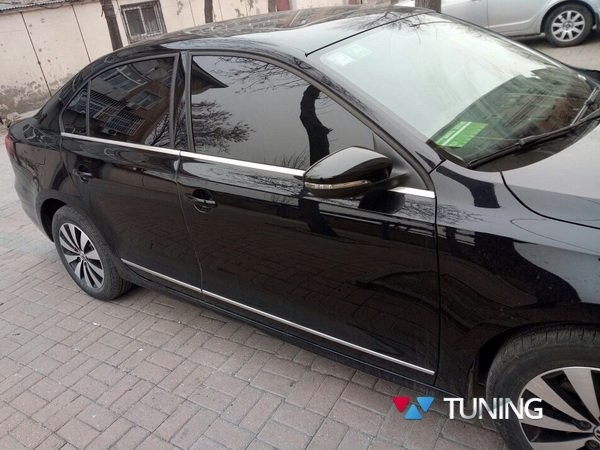 Хром нижняя окантовка стёкол VW Jetta A6 Sedan