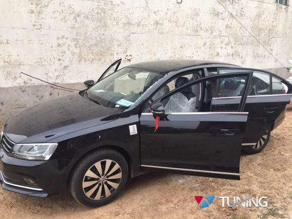 Хром нижние молдинги стёкол VW Jetta A6 (2011-2018) 6