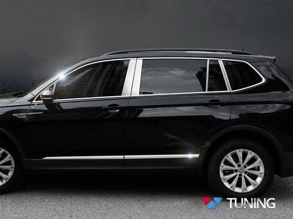 Хром молдинги на двери VW Tiguan II (2016-) 2
