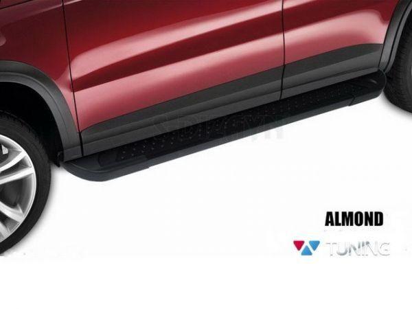 Пороги боковые FIAT 500X (2015-) - ALMOND BLACK 4