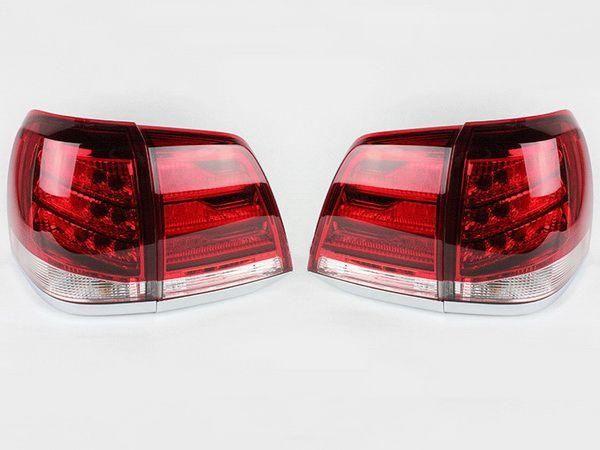 Фонари задние TOYOTA Land Cruiser 200 (07-15) RED/WHITE LED
