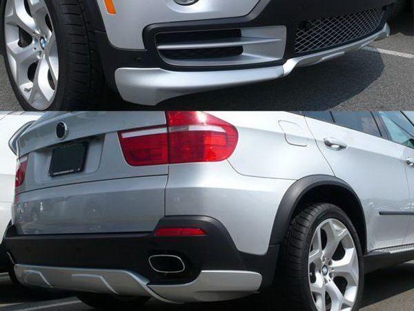 Накладки на бампера нижние BMW X5 E70 ABS-пластик