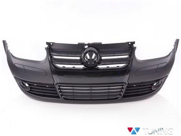 """Бампер передний VW Golf IV """"R32 GOLF 5"""" чёрная решётка"""