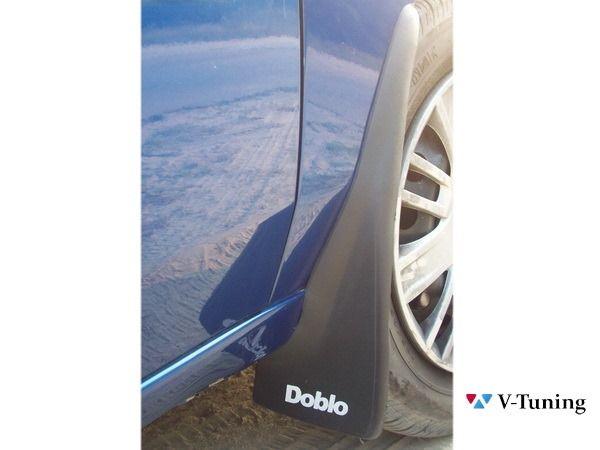 Брызговики с надписью FIAT Doblo I (2000-2005) - на автомобиле