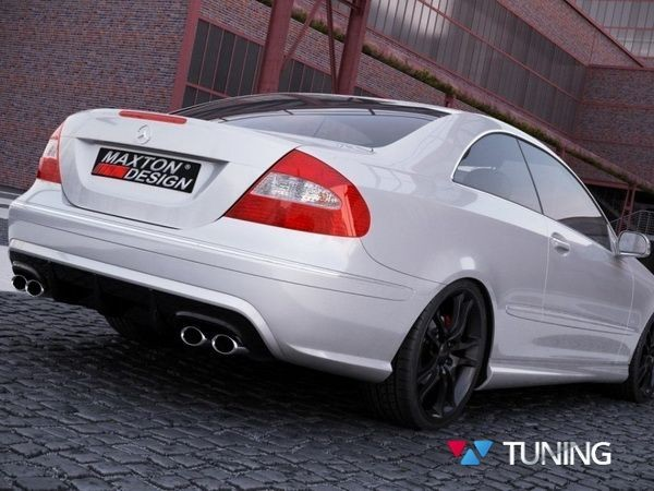 Бампер задний MERCEDES CLK W209 - BLACK SERIES стиль 2