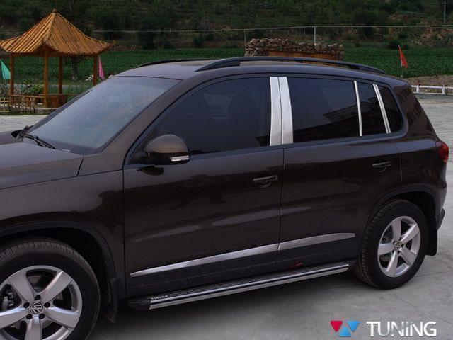 Хром молдинги дверных стоек VW Tiguan I (2007-2015)