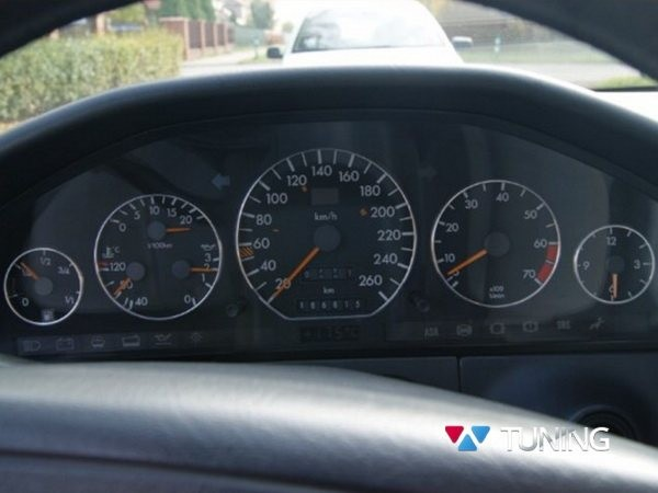 Кольца в щиток приборов MERCEDES W140 2