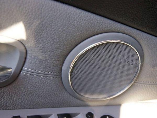 Кольца на колонки двери BMW 5 E60 / E61 FL (07-10)