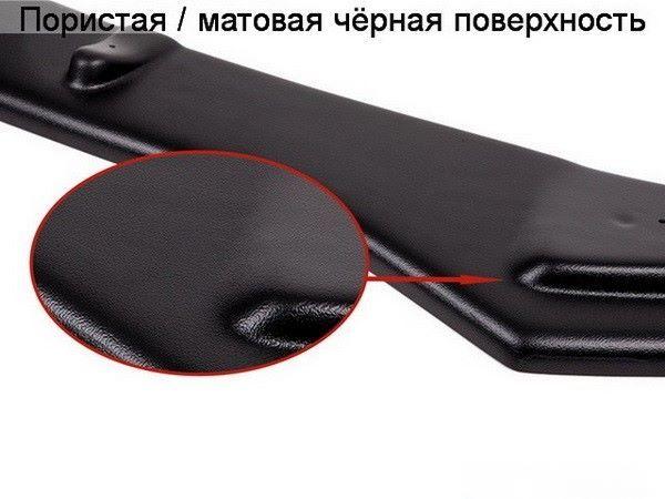 Матовая чёрная поверхность пластикового сплиттера Maxton