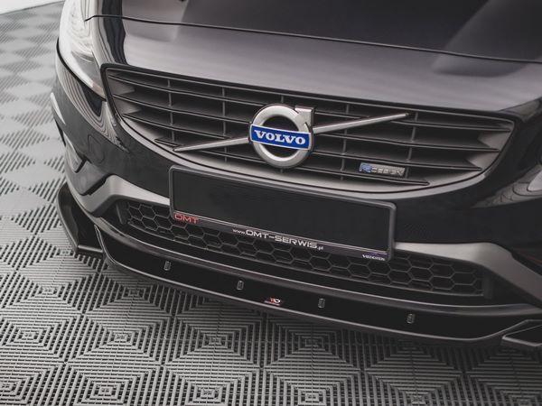 Сплиттер передний Volvo S60 R-Design II (2014+) - V.2 2