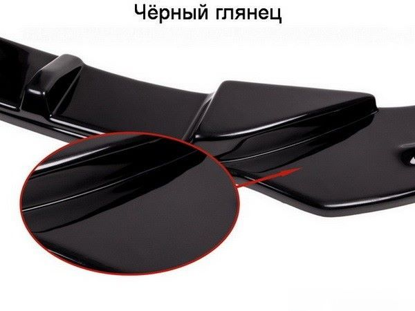 Глянцевая чёрная поверхность пластикового сплиттера Maxton