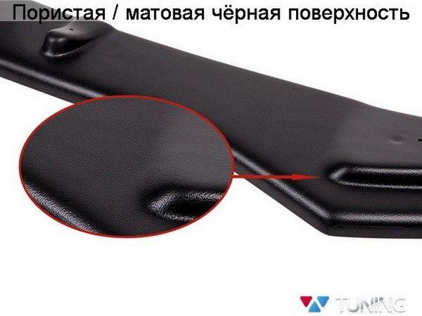 Матовая чёрная поверхность заднего центрального сплиттера ABS