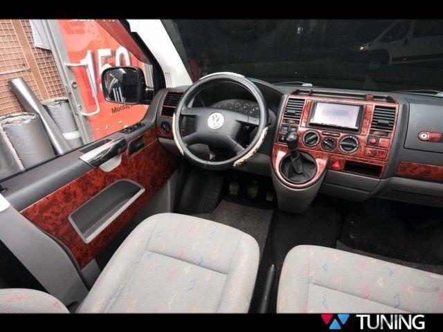 Накладки на торпедо VW T5 Transporter (2003-2009) дерево