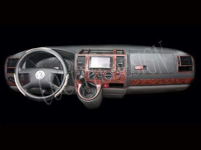 Накладки на торпедо VW T5 Caravelle (2003-2009) дерево