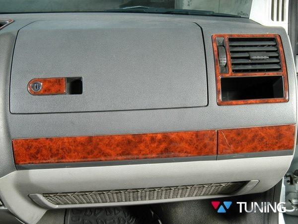 Накладки на торпедо VW T5 Multivan (2003-2009) - дерево - фото #2